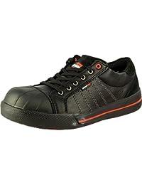 En pared de ladrillos Rb 0031515 Ruby para hombre botas de seguridad para motosierra para cordones de zapatos-up protege la ropa y suela de goma zapatos de