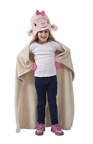 Lammie Doc McStuffins Disney Decke mit Kapuze für Kinder Einheitsgröße