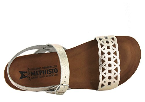 MEPHISTO VERONICA - Sandales / Nu-pieds - Femme PLATINE