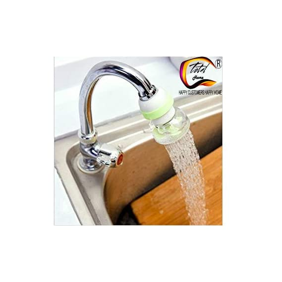TOTAL HOME Collapsible Kitchen Sprinkler Filter Water Saving Device Faucet (Small, Multicolour)
