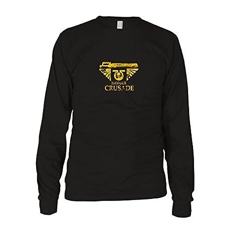 Join our Crusade - Herren Langarm T-Shirt, Größe: L, Farbe: schwarz (Warhammer 40k Figuren)