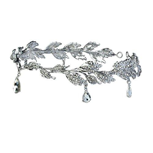 Babeyond Braut Stirnband mit Rhinestone Brautjungfer Haarband österreichisches Kristall Silber Hochzeit Accessoires für Damen - 3
