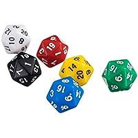 6 Stück D20-Gaming-Würfel Zwanzig Seitigen Würfel Rpg D & D Sechs Opaken Farben