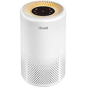 Levoit Luftreiniger Air Purifier mit HEPA-Kombifilter & Aktivkohlefilter, 3-Stufen-Filterung für 99,97% Filterleistung Schlafmodus Nachtlicht & Timer, perfekt für Allergiker Raucher, Vista200
