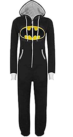 URAQT Unisex Herren Damen Onesie Overalls, Superman Batman Hooded Zip Jumpsuit / Sleepsuit, mit Kapuze Kostüm Cosplay