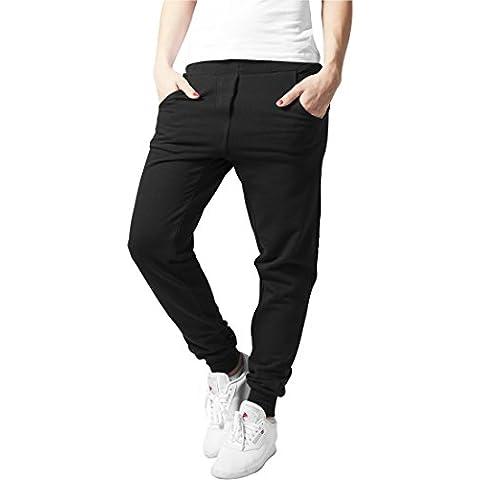 Urban Classics TB750 Ladies 5 Pocket Sweatpant Pantalone tuta donna BLACK XL