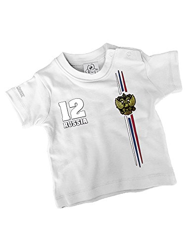 RUSSIA FAN SHIRT - RUSSLAND - BABY - WEISS - T-SHIRT by Jayess-Baby Gr. 68/74
