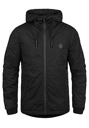 SOLID Tilden Sporty Herren Übergangsjacke Regen-Jacke mit Kapuze aus robuster und winddichter Baumwollmischung, Größe:M, Farbe:Black (9000)