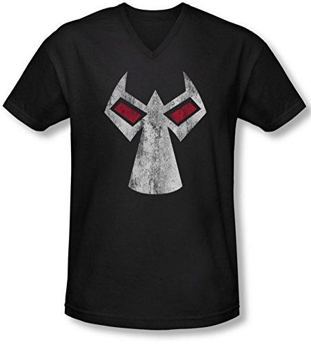 Batman - Männer Bane Maske mit V-Ausschnitt T-Shirt, Small, Black
