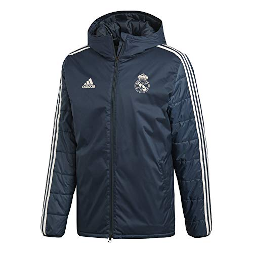 adidas Herren Real Madrid Winterjacke, tech Onix/Core White, 2XL