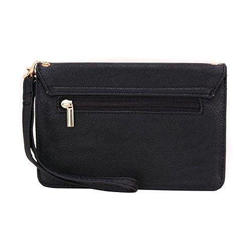 Conze da donna portafoglio tutto borsa con spallacci per Smart Phone per Orange Rono/Reyo/Hiro Grigio grigio nero