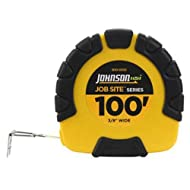 JOHNSON LEVEL & TOOL - Job Site Closed-Case Tape Measure, 3:1 Gear Drive, Steel/Molded Case, 3/8-In. x 100-Ft.