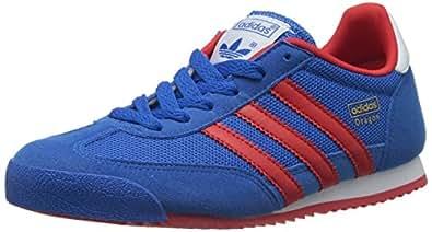 adidas Dragon, Jungen Sneakers, Blau (Bluebird / Poppy / Running White Ftw), 37 1/3