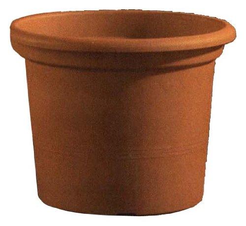 EURO3PLAST Geo Pot Pot de Fleurs en Plastique Rond (, en Terre Cuite 50 cm 38 x 38 x 38 cm)