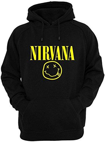 Felpa Shirt con cappuccio Nirvana nero XXL