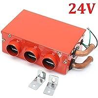 gaeruite Dispositivo de descongelación del Calentador de automóvil de Invierno de 3 Orificios portátil, desempañador de desempañador de Calor de Alta Potencia y silencioso, opción 2 12V / 24V