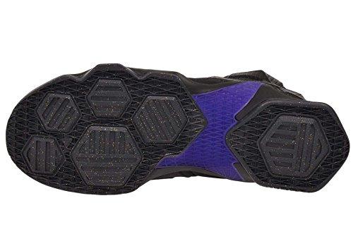Nike Lebron Xiii, Chaussures de Sport-Basketball Homme, Taille Multicolore - Negro / Dorado / Gris (Black / Black-Mtllc Gld-Hypr Grp)