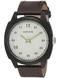 Sonata Volt+ Analog Brown Dial Men's Watch-77086PL05