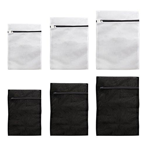 OUNONA Wäschebeutel 6pcs Mesh Waschbeutel Garment Bag Delicates Waschbeutel (Schwarz Weiß)