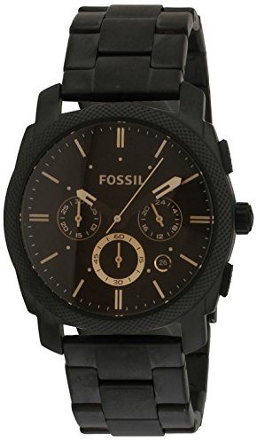 Fossil Machine Chronograph Black Dial Men's Watch-FS4682