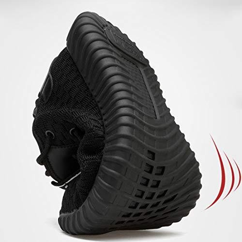 Scarpe Antinfortunistica Uomo Donna S3 Estive da Lavoro con Punta in Acciaio Super Leggere Antinfortunistiche Antiscivolo Sneaker,Black,40EU