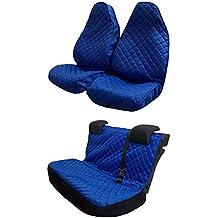 J.R. Tailor–Juego de alfombrillas para maletero, estándar azul con ribete blanco