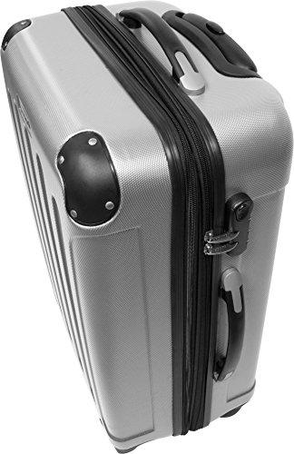 normani ABS Hartschalen Koffer Set Ausführungen Farbe Silber - 5