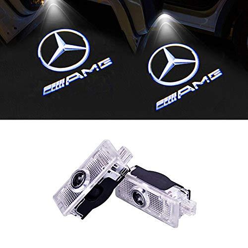 LIKECAR Car portiera luce LED Proiettori Sottoporta Logo Luce LED Del Portello di Automobile di Door Courtesy Illuminazione for benz R (W215)/ML (W164)/GL (X164) (Benz R-AMG)
