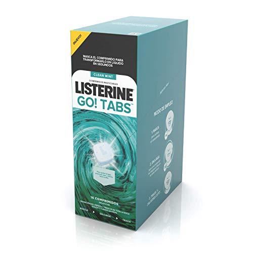 Listerine Go Tabs - 64 comprimidos masticables sin