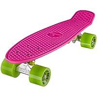 Ridge Retro 22 - Skateboard, color rosa y verde, 55 cm (22'')