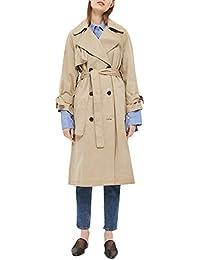 Simplee Apparel Women 's Double Breasted chaqueta larga trinchera abrigo abrigos con cinturón