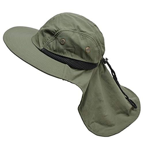 DANANGUA Sonnenhut Für Mann Sonnenschutz Angeln Eimer Hut Sommer Hut Klettern Berg Dschungel Wandern Frauen UV Schutz Hüte (Color : Amy Green, Size : M)