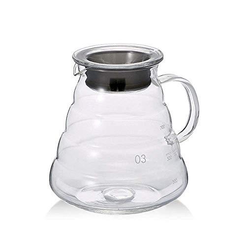 Luckyies Kaffeekanne aus Glas, Kaffeebereiter Pour Over 800ml
