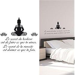 Vinilo adhesivo con inscripción, diseño de Buda