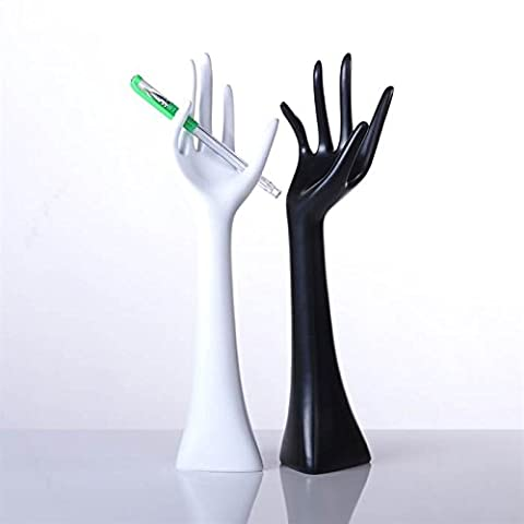 2 DESIGNER JEWELLERY DISPLAY HANDS BAM black & white decoration ring hand stand box from XTF24