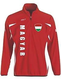 Ungarn Sport Pullover rot SWEATER Trikot look EM 2016 -