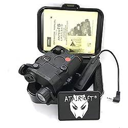 FMA PEQ Lampe de poche puissante à LED blanche + rouge avec lentilles (Noir)