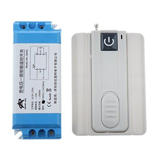 F Fityle Interruptor con Control Remoto Inalámbrico de Persianas Puertas Automáticas Enchufes 433mhz