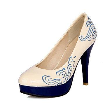 Moda Donna Sandali Sexy donna tacchi Primavera / Estate / Autunno piattaforma matrimonio PU / Party & sera abito / Stiletto Heel Slip-on / FlowerBlack / blu / rosso / Black