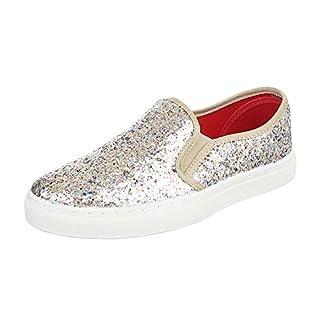 Damen Sneakers Sneaker Slip-Ons Plateau Slipper Plateau Strass Neon Blumen Flats Animal Prints Freizeit Schuhe 142155 Gold 39 Flandell Cbv5w