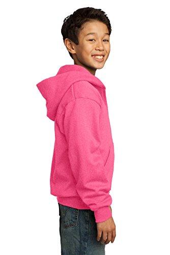 Port & Company pour homme ultime Full Zip Sweat à capuche Rose - Rose fluorescent
