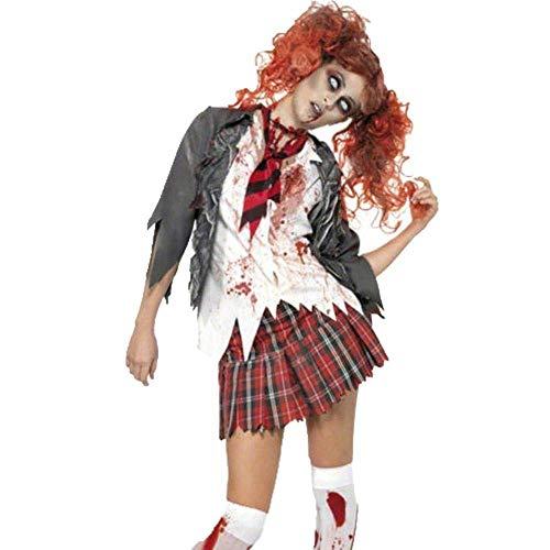 e Weiße Krankenschwester Kleid Zombie Cosplay Phantasie Weibliche Krankenschwestern Kostüme Spooky Blood Splatter Kostüm (Size : XL) ()