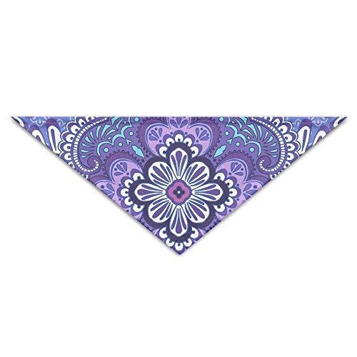 Mops Zum Verkauf Kostüm - Sdltkhy Mysterious Purple Pattern Triangle Pet Scarf Dog Bandana Pet Collars Dog Cat - Birthday