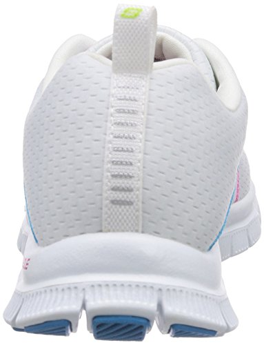 Skechers Flex Appeal Something Fun, Chaussures de sports en salle femme Blanc (Wmt)