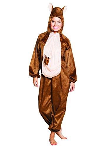 Känguru Plüsch Kostüm - Teenagerkostüm Känguru Plüsch