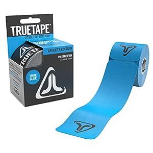 TRUETAPE Athlete Edition   vorgeschnittenes Kinesiologie Tape   20 Precut Streifen Pro Rolle   CE Zertifiziert   Aufbewahrungsbox   40 Anleitungen
