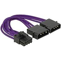 DeLOCK 83705 - Cable (PCI-E (8-Pin), Macho/Macho, Derecho, Derecho, Púrpura, Bolsa de plástico)