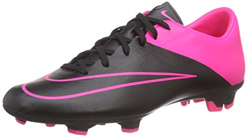 Nike Mercurial Victory V FG, Chaussures de Football Homme Multicolore - Mehrfarbig (Black/Black/Hyper Pink/Hyper Pink)