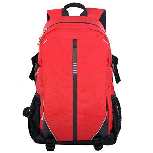 Rucksack Herren Freizeittasche Business Travel Student Computer Rucksack Red