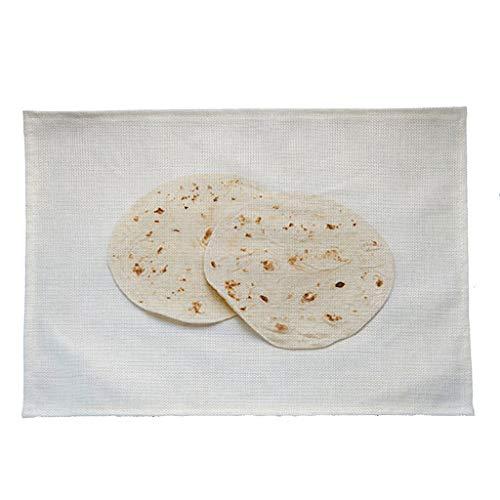 Rot Korb Geflochtenem Leder (Y56(TM) Lustig Kreativer Platzsets Mexikanischer Burrito TischsetZuhause Küchentisch RestaurantBar Tischset (Mehrfarbig))